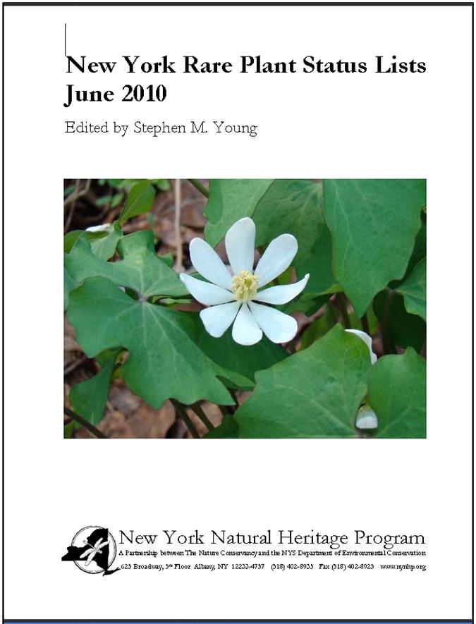 New York Flora Association Blog: 2010 Rare Plant Status Lists Now Available