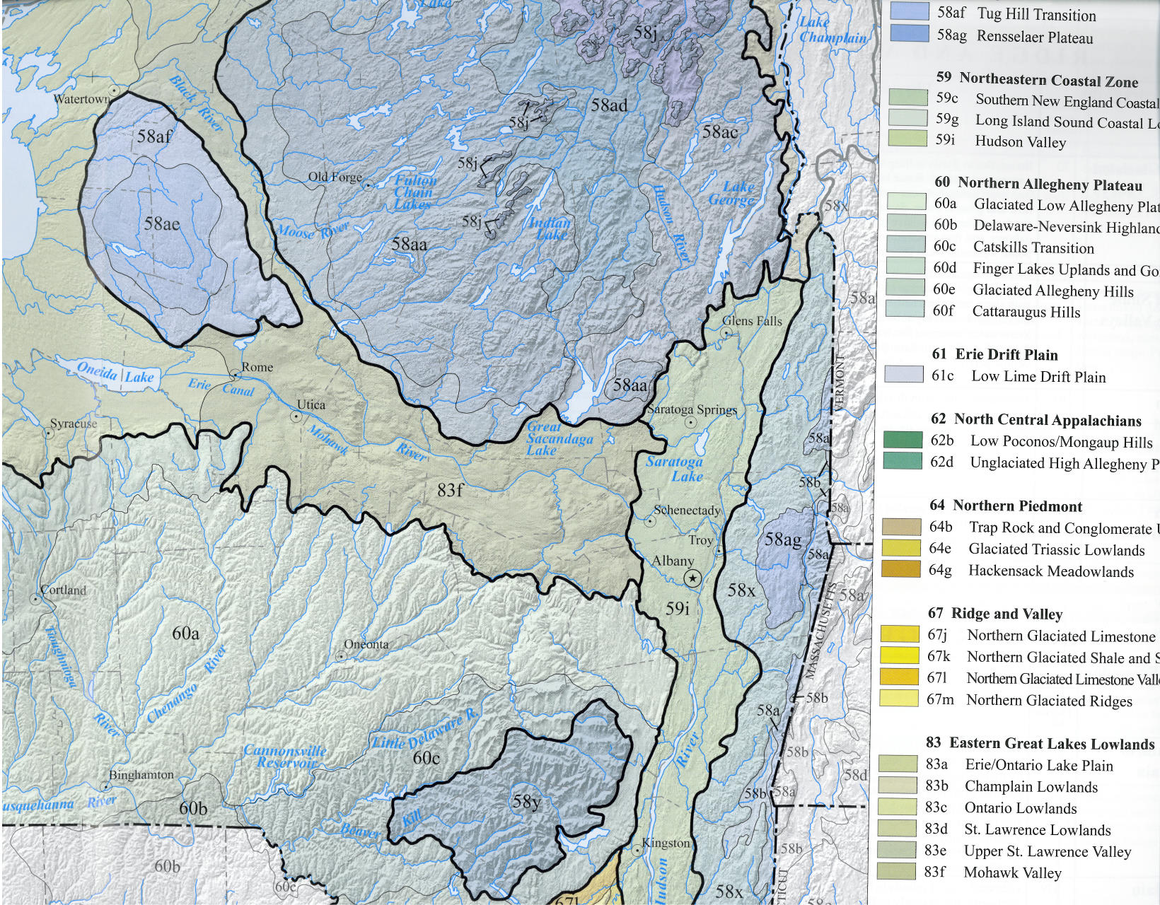 Nyc Map Gis.Ecoregions Of New York Map Available For Gis New York Flora