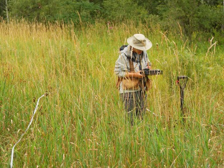 Future posts will document our work as it continues in other regions of the state.  Elizabeth in the wet meadow.