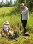 Digging a soil pit near Louisville in St. Lawrence County. Dirty Jobs anyone?