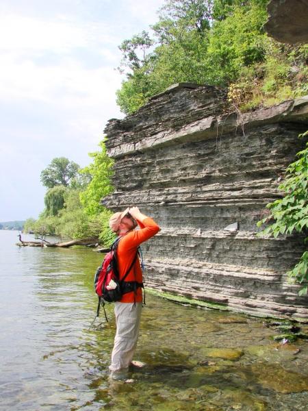 Botanist John Wiley surveys for endangered plants along Seneca Lake.  Are botanists endangered too?