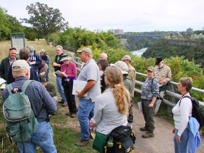 Happy students at the goldenrod and aster workshop at the Niagara Gorge last year.