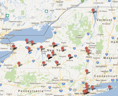 See a Map of the Herbaria in New York | New York Flora Association Blog