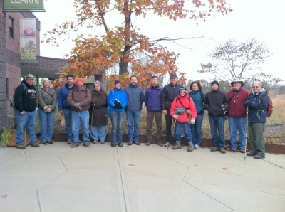 We assembled outside the Pine Bush Discovery Center before heading off to the yellow trail.